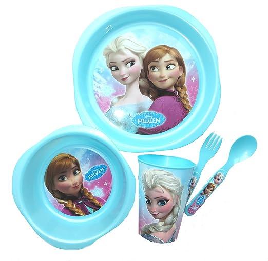 3 opinioni per Disney- Set pappa in plastica, motivo: Frozen, 5 pezzi
