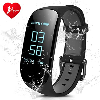 laucin Fitness Tracker, Z17 Activity Wristbands with Heart Rate Monitor: IP67 0.96OLED Sports Bracelet Sleep Monitoring/GPS Track/Camera ...