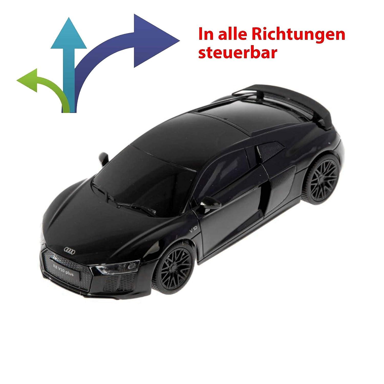 ferngesteuertes Modellauto Lizenzmodell Rennwagen Fahrzeug Ma/ßstab 1:24 inkl Fernsteuerung HSP Himoto Audi R8 V10 Plus Black Edition