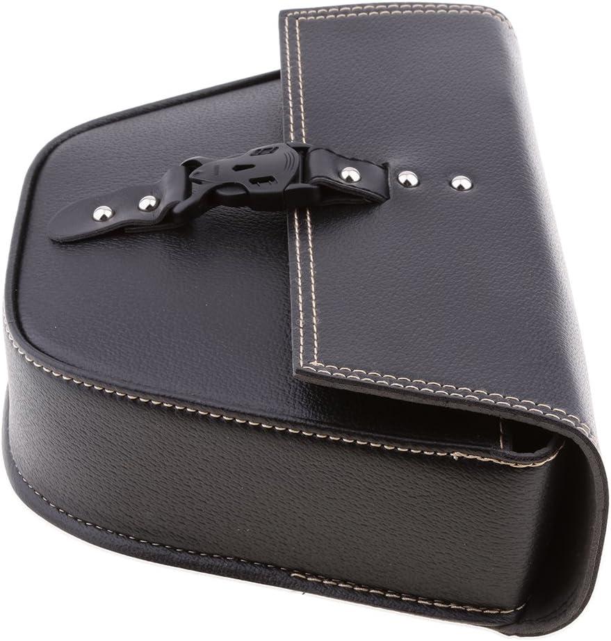 MagiDeal PU Leather Single Side Bag Motorcycle Motorbike Pannier Saddle Bag