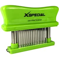 Toughest Meat Tenderizer Tool - 48 Needle Meat Tenderizer Blades Transforms Hard, Cheap or Delicate Cuts into Expensive, Buttery Goodness Without Meat Mallet Crushing – 100% Hassle Free Guarantee