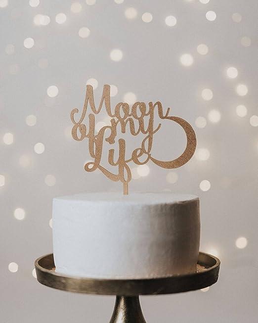 Decoración para tarta de boda con diseño de luna de mi vida ...