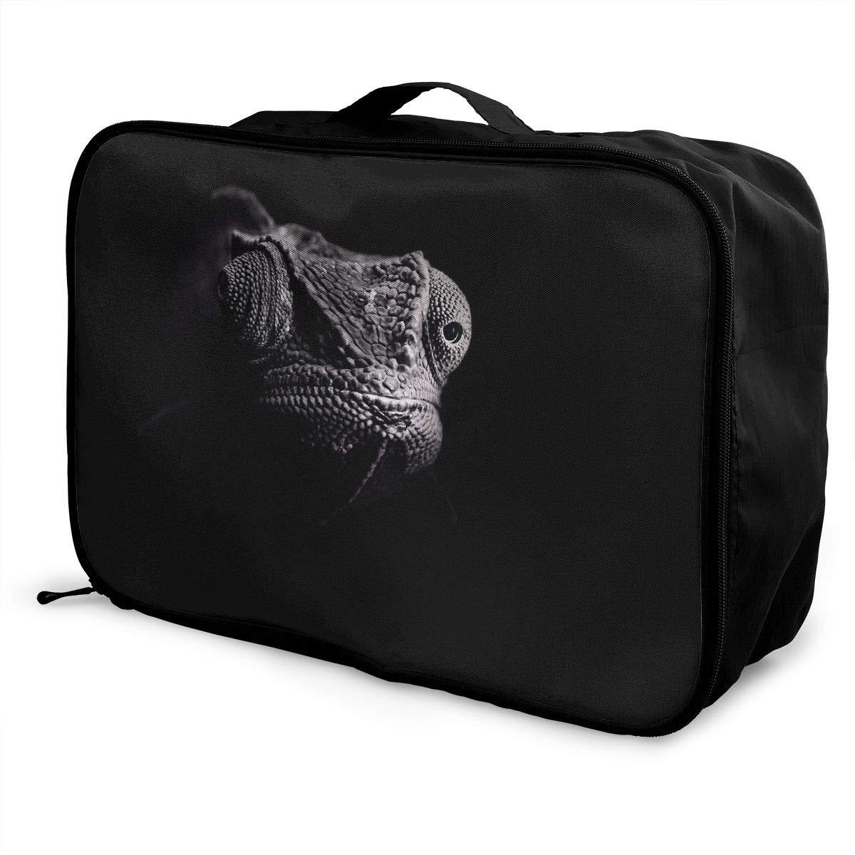 Travel Luggage Duffle Bag Lightweight Portable Handbag Gecko Pattern Large Capacity Waterproof Foldable Storage Tote