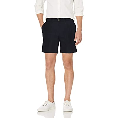 "Amazon Brand - Goodthreads Men's 7"" Inseam Comfort Stretch Seersucker Short: Clothing"