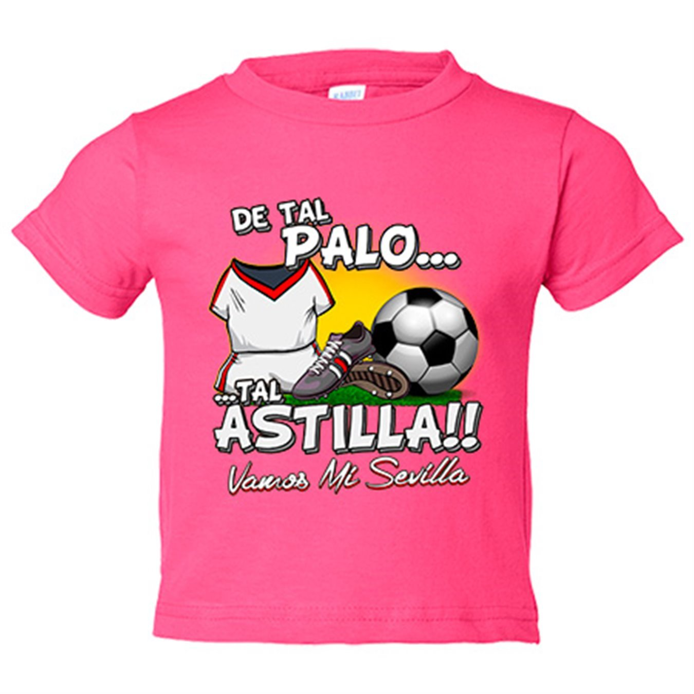 Camiseta niño De tal palo tal astilla Sevilla fútbol - Amarillo, 3-4 años: Amazon.es: Bebé