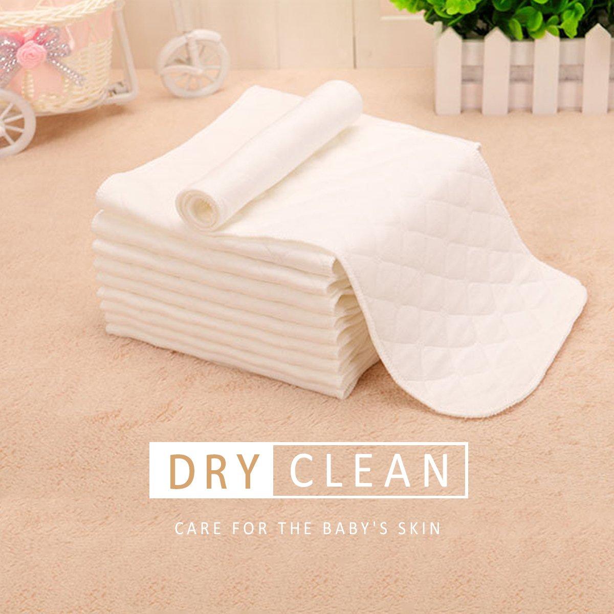 SONARIN Reutilizable tela suave pa/ñal inserciones pa/ñales liners s/úper absorbente de agua esteras,Forros para pa/ñales paquete de 20 3 capas