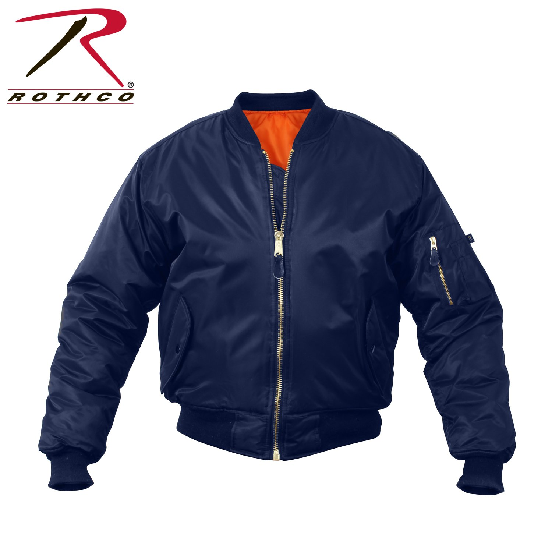 Rothco Kids Ma-1 Flight Jacket-Navy Blue, X-Large