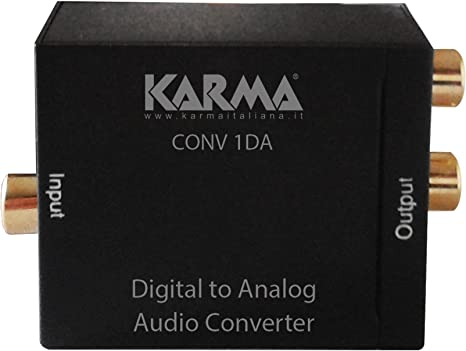 Karma Convertitore Audio Digitale Analogico Conv 1da Adattatore Audio