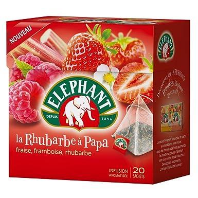 Elephant Ruibarbo Infusión Una Papá 20 Bolsas 38G: Amazon.es ...