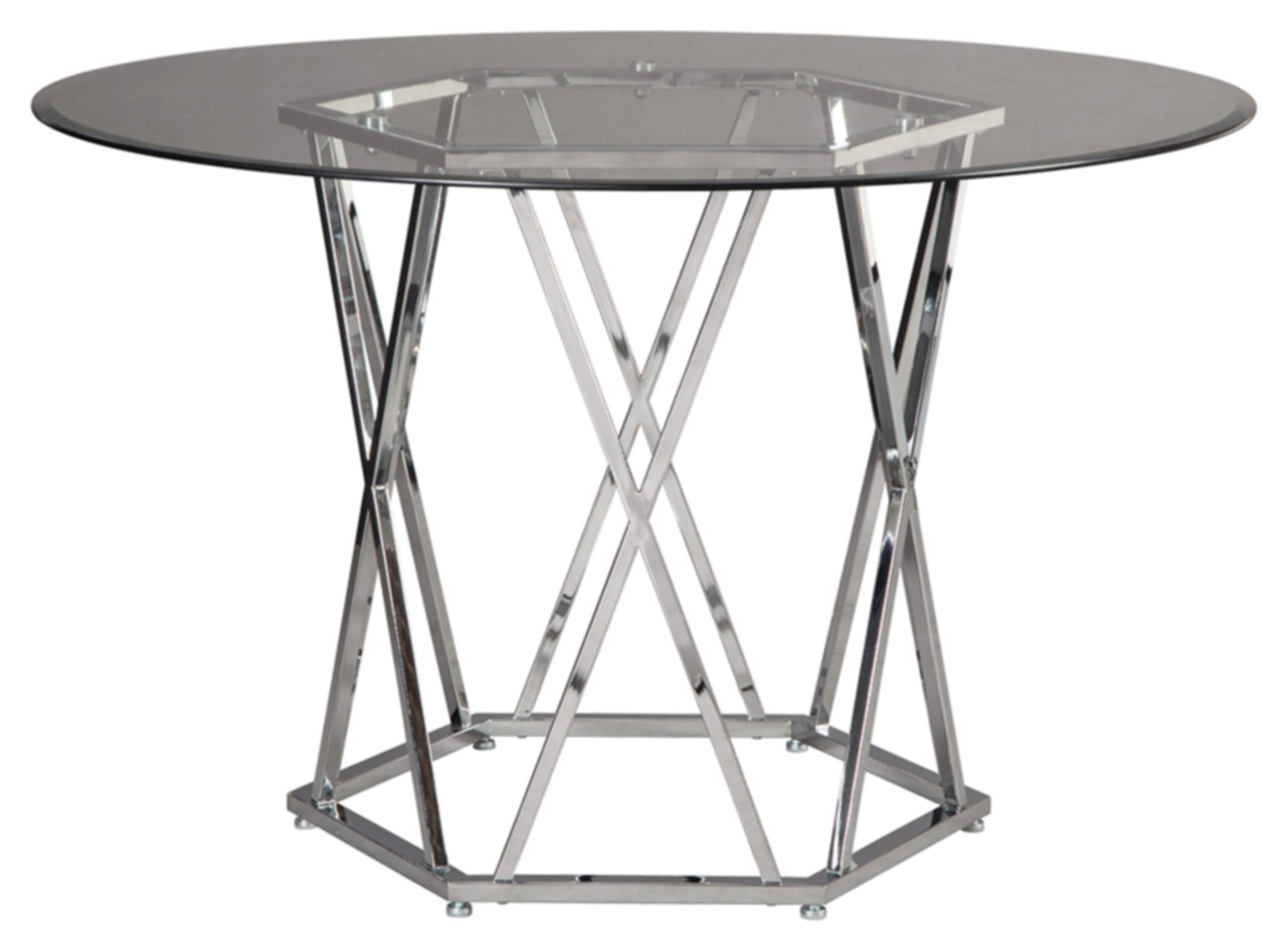 Signature Design by Ashley D275-15 Madanere Dining Table, Chrome