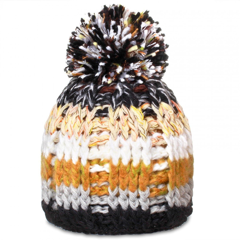 CASPAR Unisex klassische bunte Winter Mütze / Bommelmütze / Strickmütze mit großem Bommel - viele Farben / multicolor - MU099