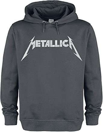 Metallica Amplified Collection White Logo Homme Sweat