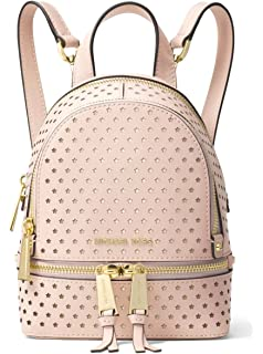 1f403f530ad0 ... black 9812e cef7d order michael michael kors rhea mini perforated  leather backpack soft pink ca56d 62f6c ...