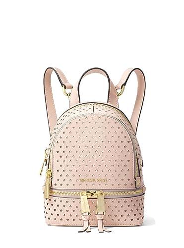 7411f2b27c7c ... order michael michael kors rhea mini perforated leather backpack soft  pink bb778 04c85