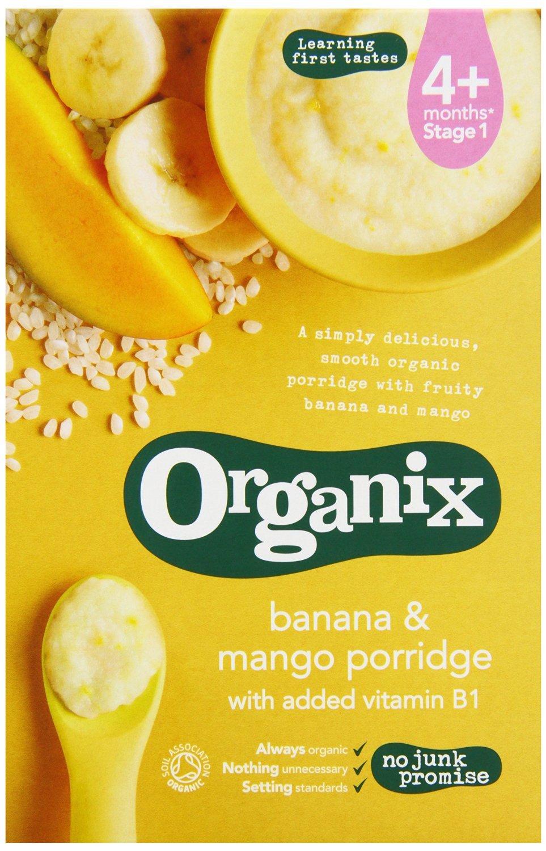 (3 PACK) - Organix - Banana and Mango porridge | 120g | 3 PACK BUNDLE ORGANIX (VEGETARIAN)