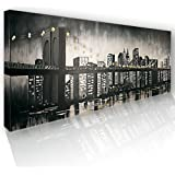 100% Hand-Painted Cityscape Paintings by IARTS for Home and Office, 20x60 inches,Ready to Hang