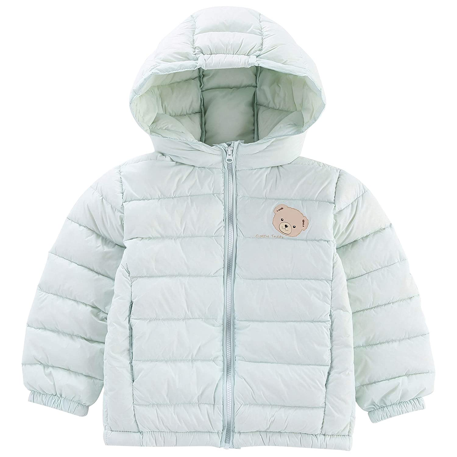 Classic Teddy Baby Boys Girls Down Jacket Kids Hoodie Coat Winter Outerwear