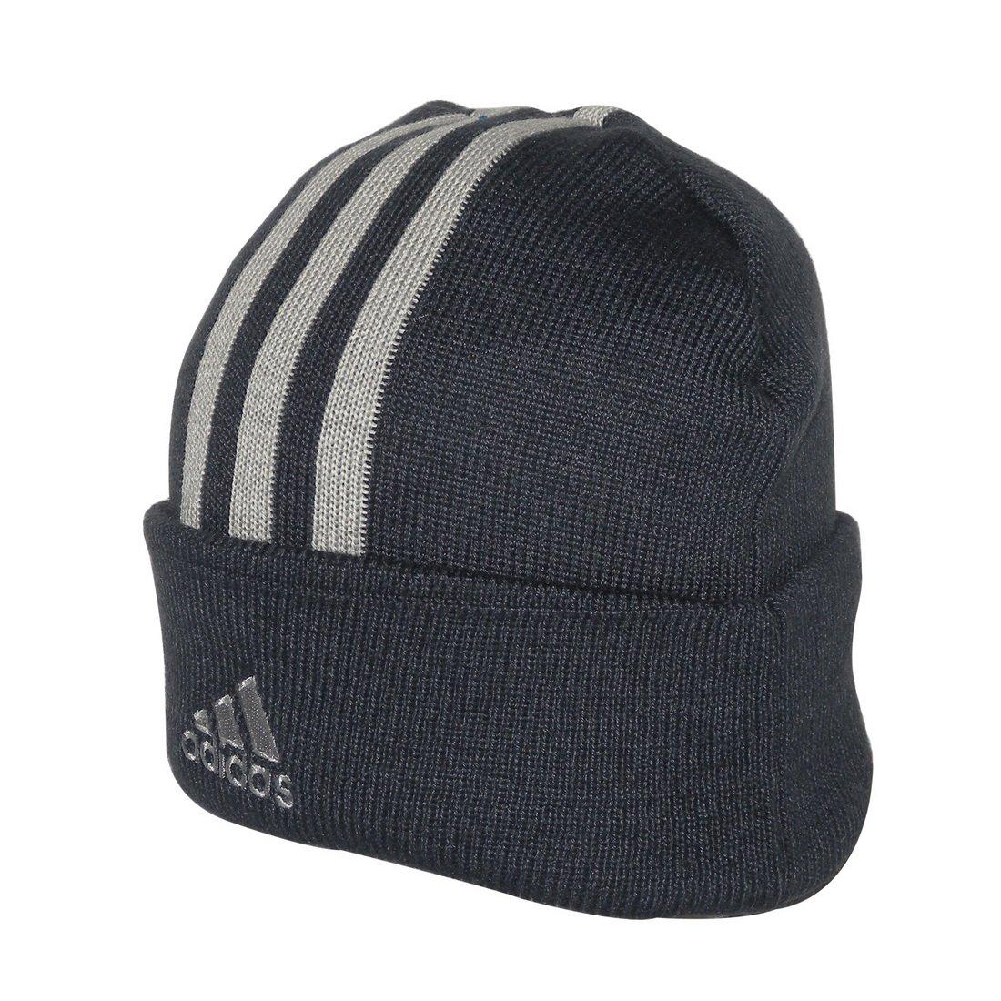 2a0de635df1 Adidas Adult Essentials 3 Stripe Warm Ski   Skate Beanie   Winter Hat - One  Size Fits All  Amazon.co.uk  Clothing