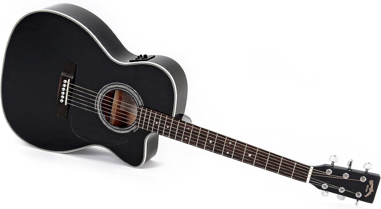 Guitarra Acústica/Electroacústica Sigma 000MC-1STE+ Black: Amazon ...