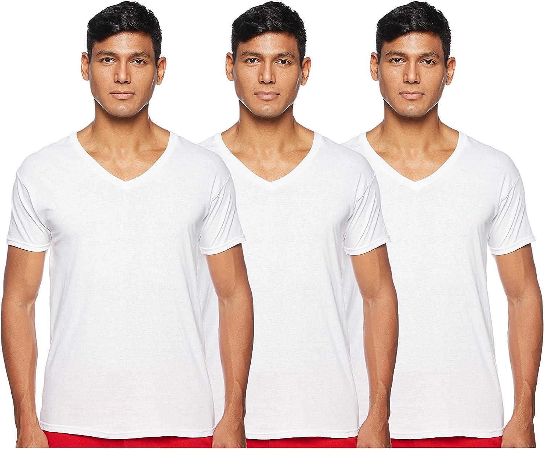 Hanes Men's 3-Pack Tagless Cotton V-Neck Undershirts