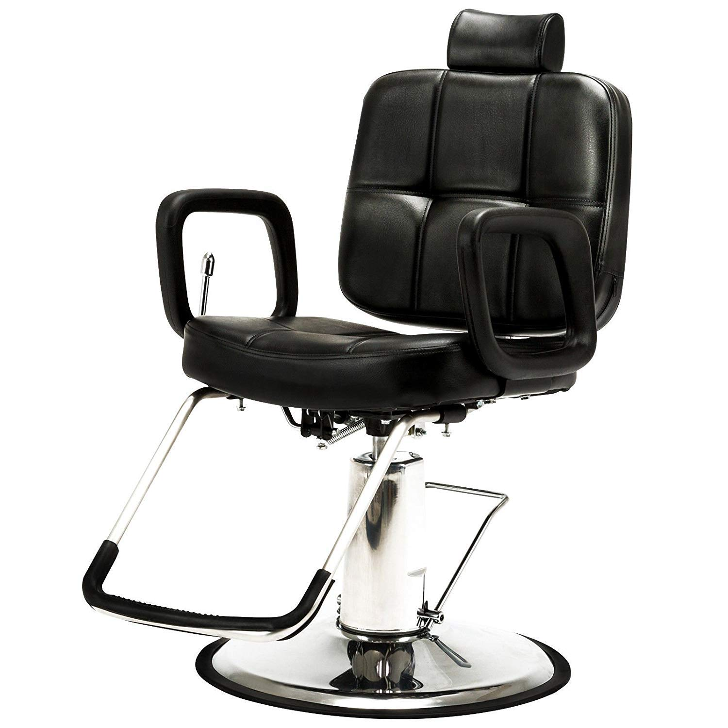 Vosson Salon Chair Reclining Hydraulic Chair 360 Degrees Swivel Barber Chair Tattoo Chairs Heavy Duty Hydraulic Pump Barbering Chair Hair Stylist Chair by Vosson