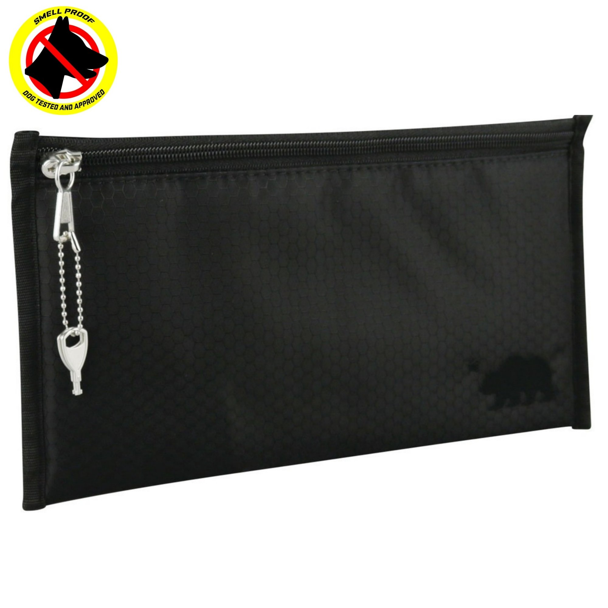 Cali Crusher 100% Smell Proof Pouch w/Locking Key (11''x6'') (Black)
