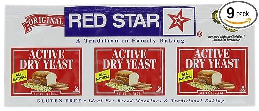 Estrella roja seca Levadura de 3 Pack, sin gluten, 0.75 ...