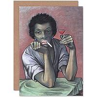 Greetings Card Painting Ursula BENSER GEB HEUSER Frau MIT LIKOR 1943