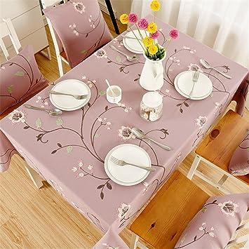 ADDMAT® Rosa Bestickt Tischdecken Tuch Imitation Baumwolle ...