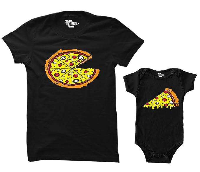 80c359bd6 Amazon.com: Pizza Pie/Slice Matching Bodysuit & Women's T-Shirt ...