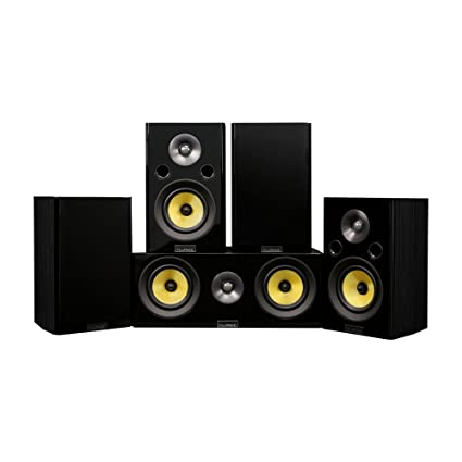 Fluance Signature Series Compact Surround Sound Home Theater 50 Channel Speaker System Including Two Way