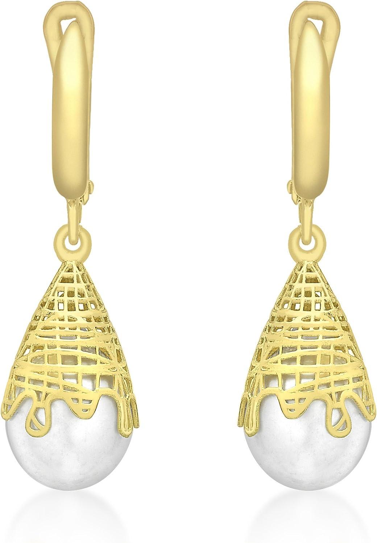 Carissima Gold Pendientes de mujer con oro amarillo 9 quilates (375), perla