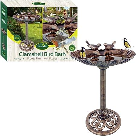 Baignoire Oiseaux Mangeoire Oiseau en mains Pierre Jardin Patio Décoration Eau Decor Cadeau UK