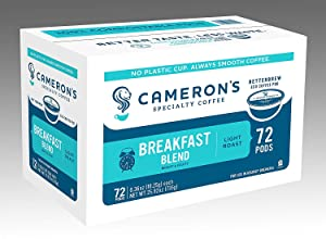 Cameron's Coffee Single Serve Pods, Breakfast Blend, 72 Count (Pack of 1)