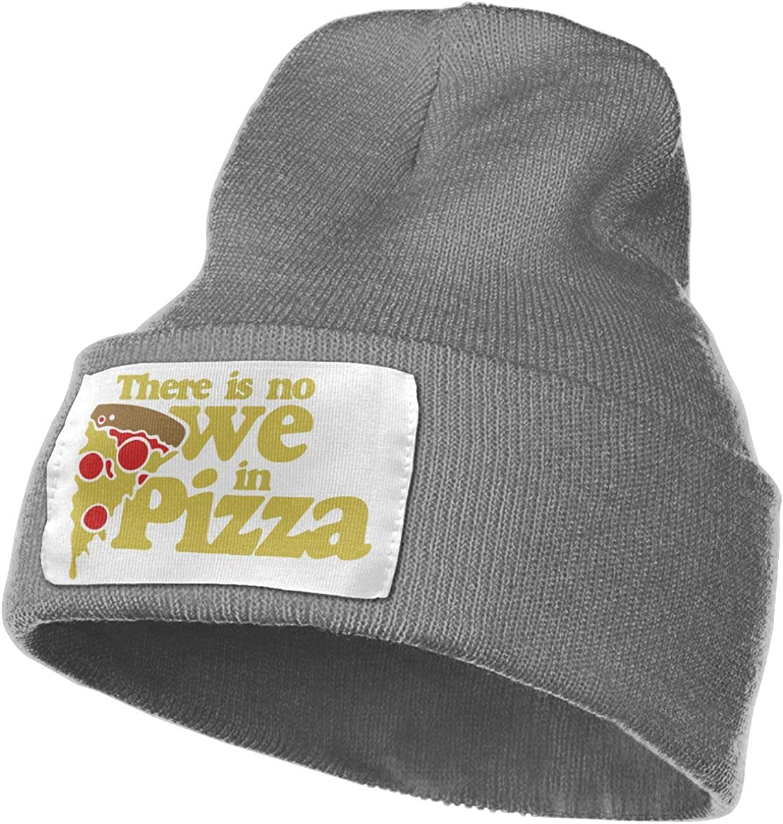 There is No We in Pizza Men /& Women Skull Caps Winter Warm Stretchy Knit Beanie Hats