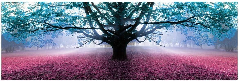 Cuadro Árbol de la Vida romántico Azul de Lienzo para Dormitorio de 150 x 50 cm Iris - LOLAhome