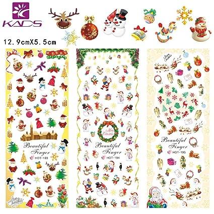 KADS Arte de uñas Navidad nieve de uñas de arte Pegatina Decoracion para las Uñas Decal