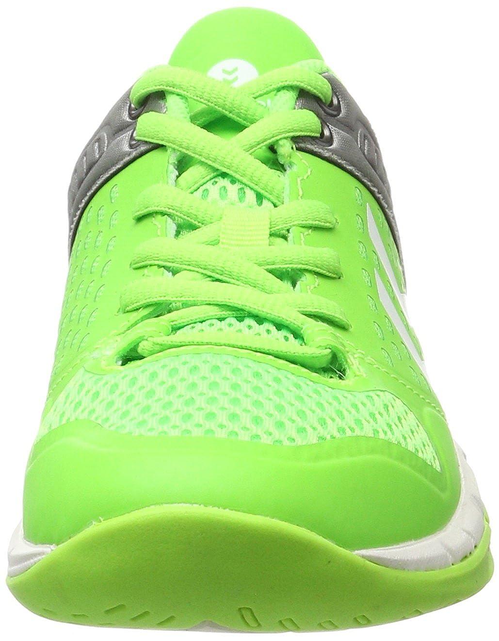 Hummel Omnicourt Z7, Scarpe Sportive Indoor Unisex - Adulto, Verde (Green Gecko), 46.5 EU