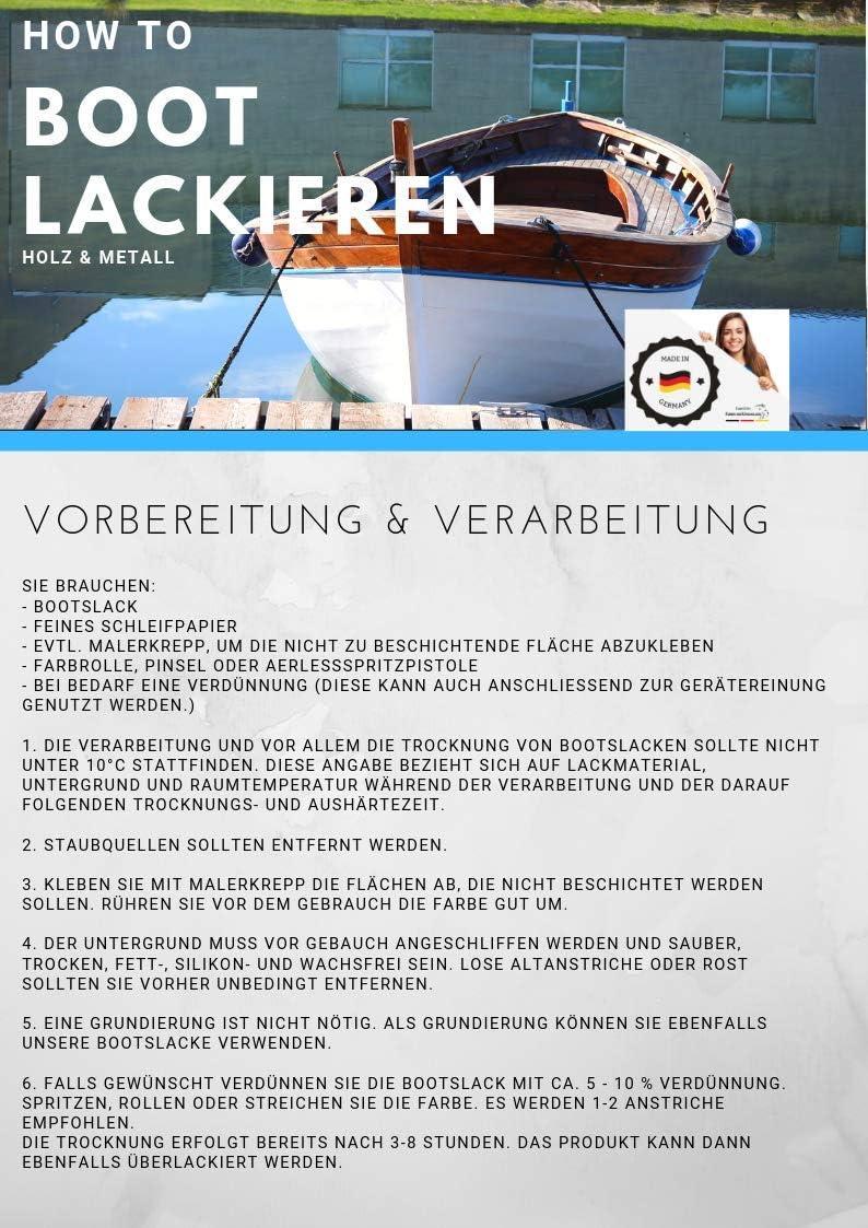 Bootslack GLÄNZEND Taubenblau RAL 5014 Blau Holz Metall Yachtlack Bootsfarbe HLP