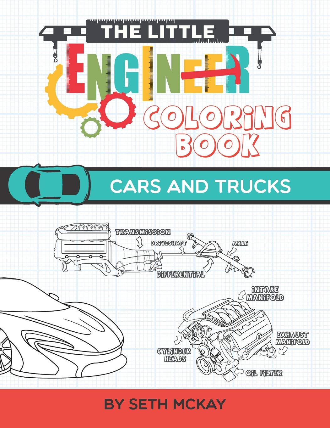 Little Engineer Coloring Book Educational product image