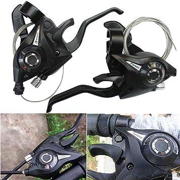 MXBIN 1 par 3x7 21 Velocidad Bicicleta Bicicleta Ciclismo gatillo Palanca de Cambios con Cable de Cambio Interno Herramienta de reparación de Piezas de Accesorios: Amazon.es: Equipaje