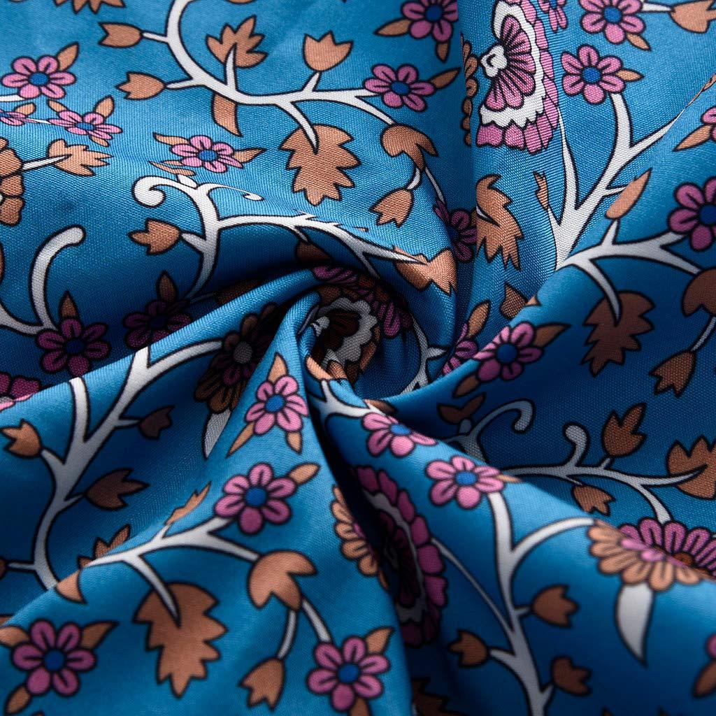 Clothful  Women Dress, Womens Sexy Casual Sleeveless Bohemia Print National Style Mini Floral Dress Blue by Clothful (Image #5)