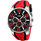 Gets Unique Big Face Sports Watch Silicone Band Sport Outdoor Wristwatches Design Quartz Casual Watches for