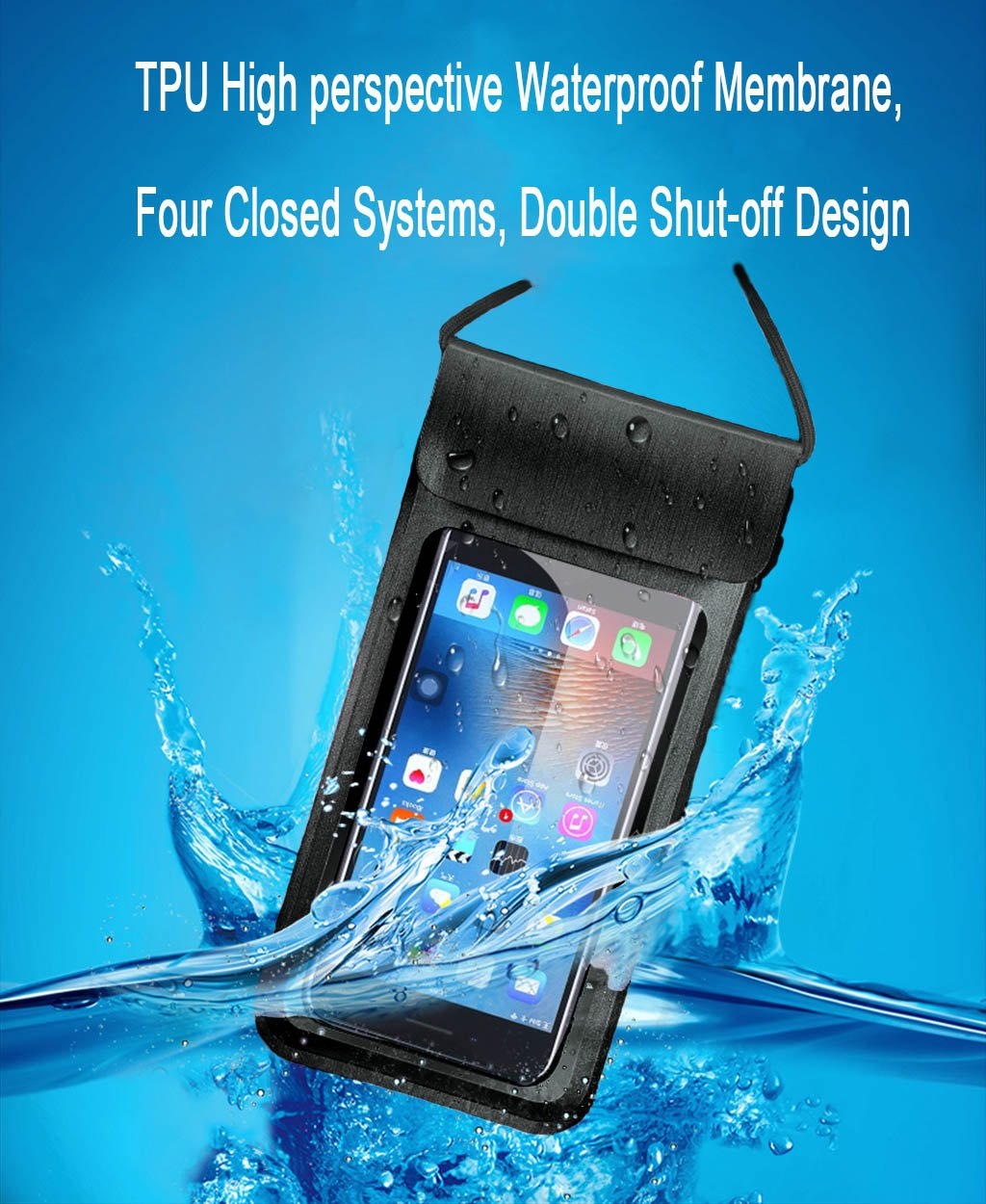 Amazon.com: Waterproof Case, Universal IPX8 Waterproof Phone Pouch Underwater Phone Case Dry Bag for iPhone X/8/8P/7/7P, Samsung Galaxy S9/S9P/S8/S8P/Note 8 ...