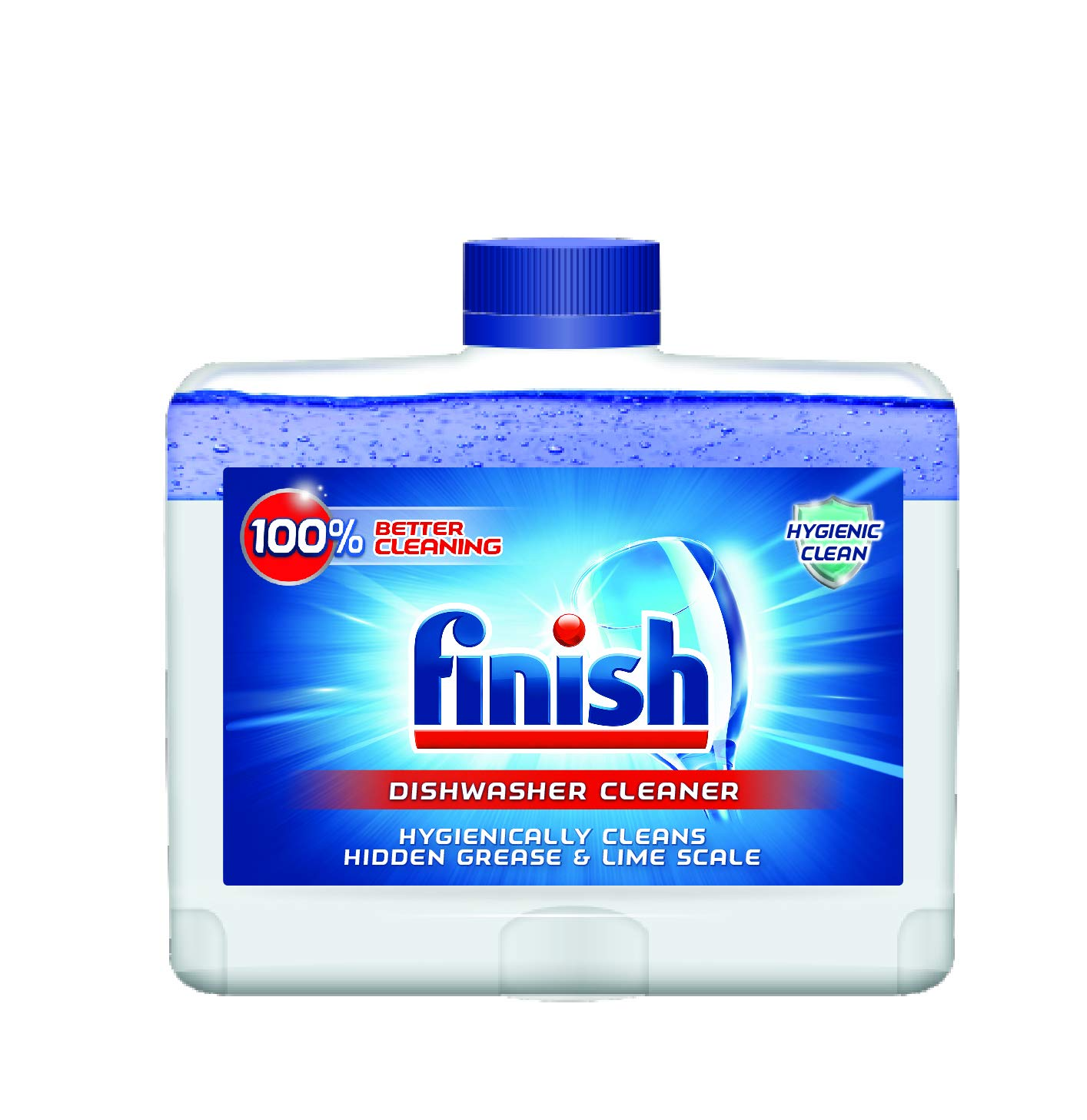 Finish Dual Action Dishwasher Cleaner: Fight Grease & Limescale, Fresh, 8.45 oz (Pack of 6) by Finish