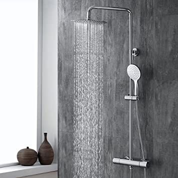 Beliebt ubeegol Duschsystem Thermostat Regendusche Duschset Duscharmatur FH16