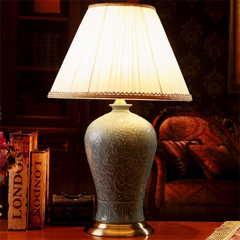 Tischlampe, keramische Lampe, moderne europäische Wohnzimmer-Lampe