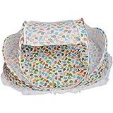 Lovoski 全2色 幼児 赤ん坊 保護 睡眠用 折り畳み式 トラベルネット ベッド ベビー蚊帳 高品質  - カラフル