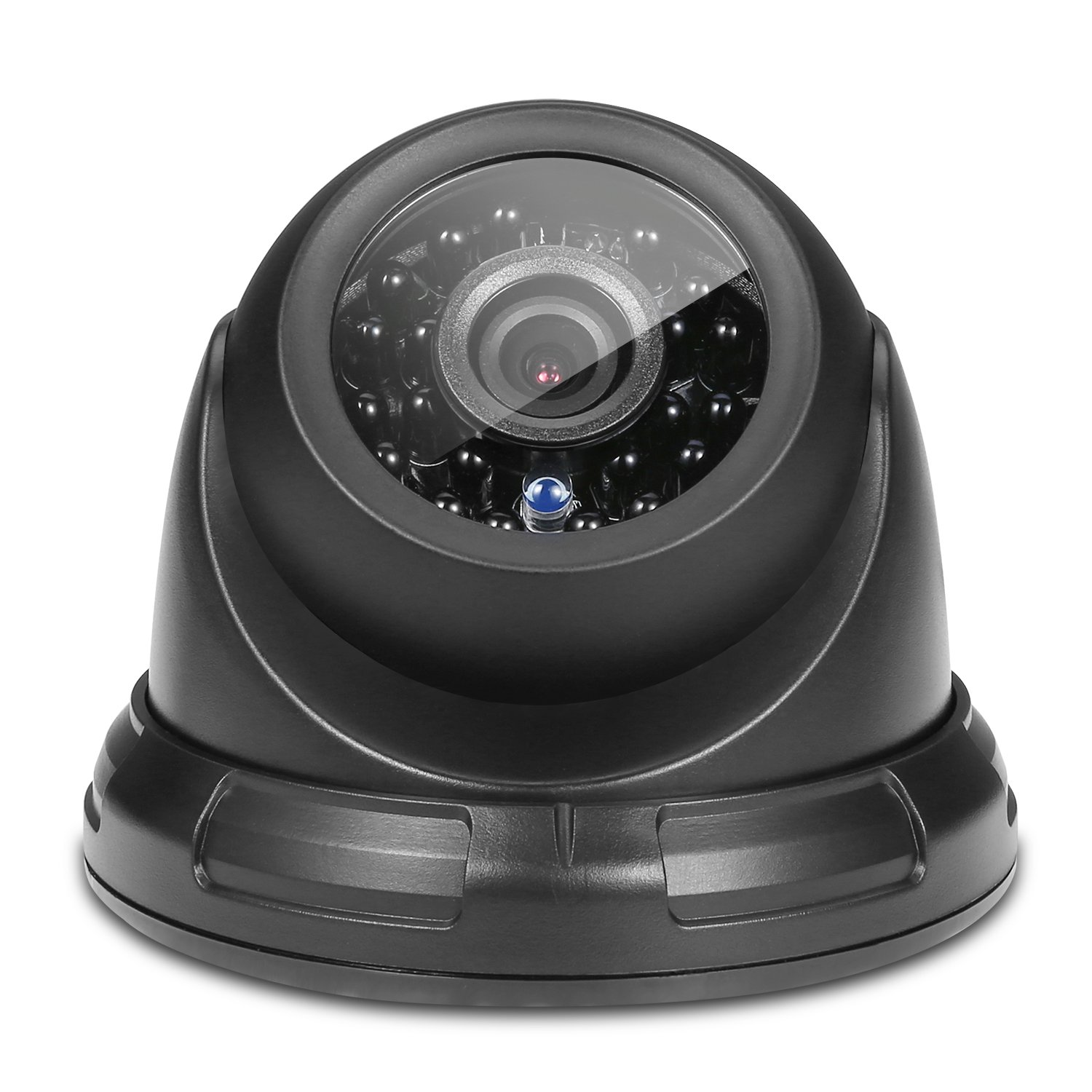 ANNKE TVI 720P High Clarity Security Dome Camera with Weatherproof Housing, 66ft Super Night Vision and Wide Angle of View(Black)
