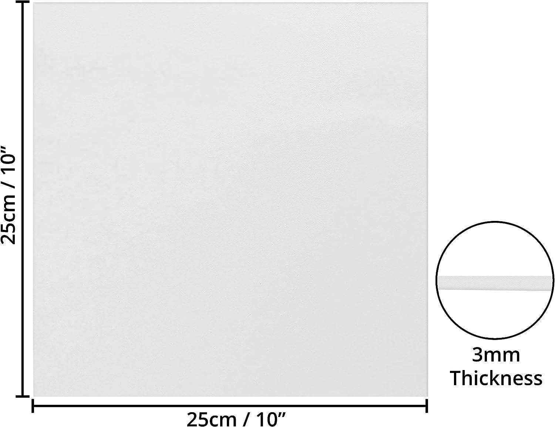 Set da 7 Tele Pittura ad Acquerello Tela Bianca per Dipingere Cartone Telato 25x25cm Tela Pittura Spessore 3mm Set Tele per Dipingere ad Olio ed Acrilico Tela per Dipingere Opere d/'Arte